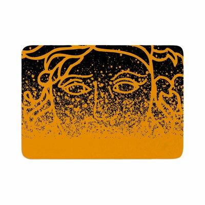 Versus Spray by Just L Memory Foam Bath Mat Color: Black/Gold, Size: 24 L x 17 W