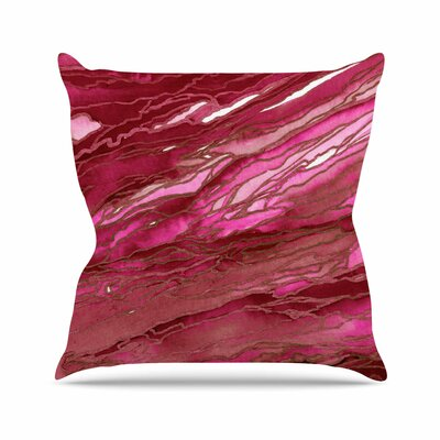 Agate Magic Throw Pillow Color: Hot Pink / Red, Size: 20 H x 20 W x 7 D