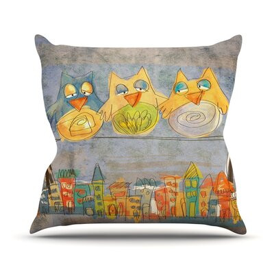 Lechuzas by Carina Povarchik Throw Pillow Size: 16 H x 16 W x 3 D