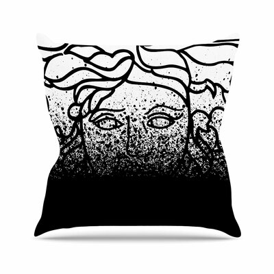 Versus Spray Throw Pillow Color: Black, Size: 18 H x 18 W x 6 D