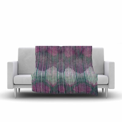 Ikat Vintage Fleece Throw Blanket Size: 60 L x 50 W, Color: Pink