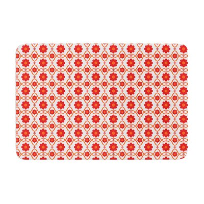 Floral by Nandita Singh Bath Mat Color: Red
