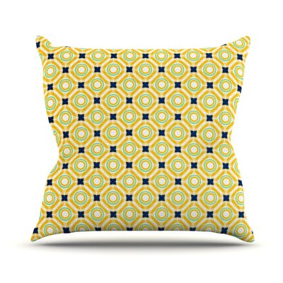 Tossing Pennies by Catherine McDonald Outdoor Throw Pillow Color: Orange