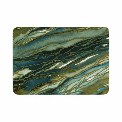 Agate Magic by Ebi Emporium Memory Foam Bath Mat Size: 24 L x 17 W, Color: Olive/Teal/Blue