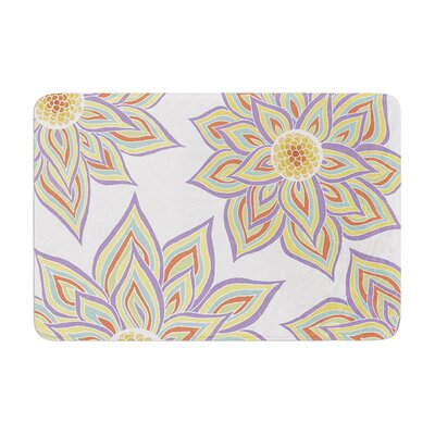 Floral Rhythm by Pom Graphic Design Bath Mat Color: White