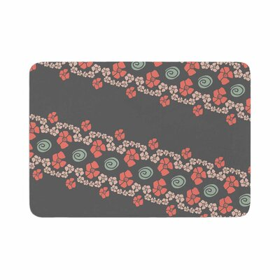 Flora Formations by Zara Martina Mansen Bath Mat Color: Brown