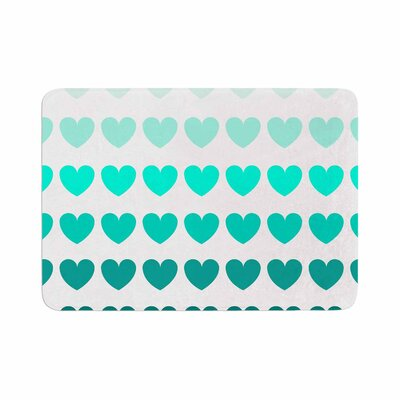 Hearts by NL Designs Memory Foam Bath Mat Color: Teal