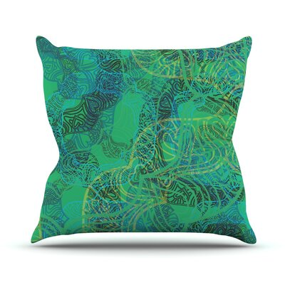 Mandala by Patternmuse Throw Pillow Size: 16 H x 16 W