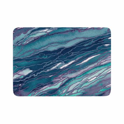 Agate Magic by Ebi Emporium Memory Foam Bath Mat Size: 24 L x 17 W, Color: Lilac/Teal