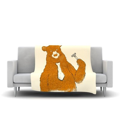 Work Fleece Throw Blanket Size: 80 L x 60 W