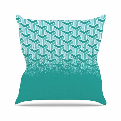 No Yard Throw Pillow Color: Teal, Size: 26 H x 26 W x 7 D