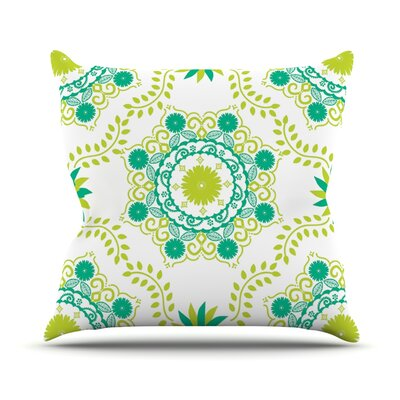 Lets Dance by Anneline Sophia Outdoor Throw Pillow Color: Green