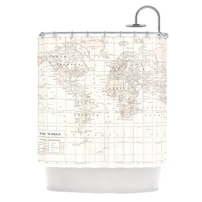 The Old World by Catherine Holcombe Shower Curtain Color: White