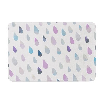 Opal Drops by Daisy Beatrice Bath Mat Color: Mist, Size: 17W x 24L