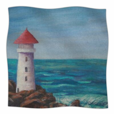 The Lighthouse Rocks Throw Blanket Size: 90 L x 90 W