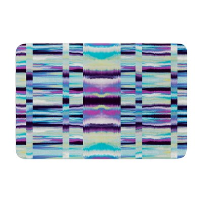 Samanna by Nina May Bath Mat Color: Blue Tribal