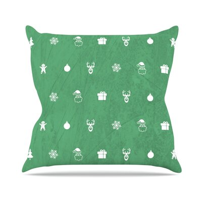 Cheery Pattern Throw Pillow Size: 20 H x 20 W x 4 D, Color: Green