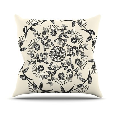 Decorative Mandala by Famenxt Throw Pillow Size: 26 H x 26 W x 5 D