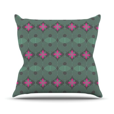 Pattern by Deepti Munshaw Outdoor Throw Pillow Color: Beige/Green