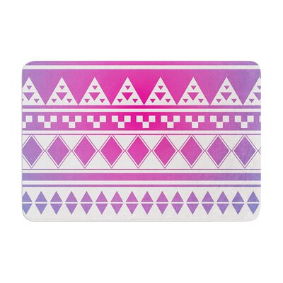 Aztec by Belinda Gillies Bath Mat Color: Rainbow, Size: 17W x 24L