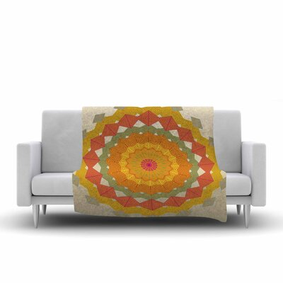 Composition by Angelo Carantola Fleece Blanket Color: Yellow