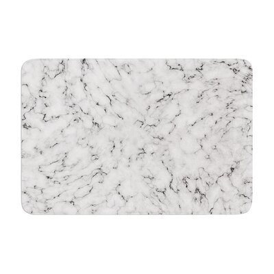 Marble by Will Wild Bath Mat Color: White