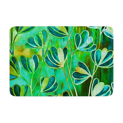 Effloresence by Ebi Emporium Bath Mat Color: Blue/Green, Size: 24 W x 36 L