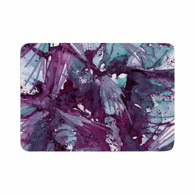 Birds of Prey by Ebi Emporium Memory Foam Bath Mat Size: 24 L x 17 W, Color: Aqua/Purple