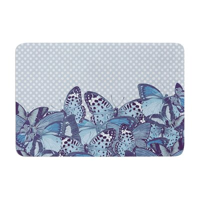 Butterfly by Suzanne Carter Bath Mat Color: Aqua
