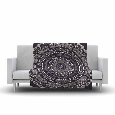 Swadesi Boho Mandala Fleece Throw Blanket Size: 80 L x 60 W