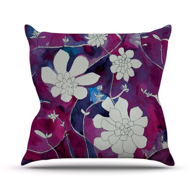 Succulent Dance by Theresa Giolzetti Outdoor Throw Pillow Color: Purple