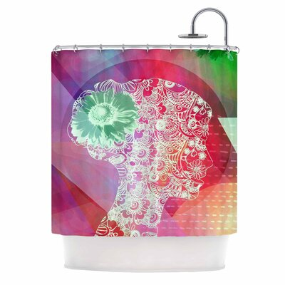 Silhouette by AlyZen Moonshadow Shower Curtain Color: Pink