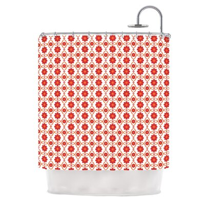 Floral by Nandita Singh Shower Curtain Color: Crimson