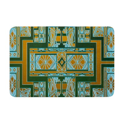 Golden Art Deco by Nika Martinez Bath Mat Color: Green/Blue