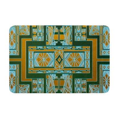 Golden Art Deco by Nika Martinez Bath Mat Color: Green/Blue