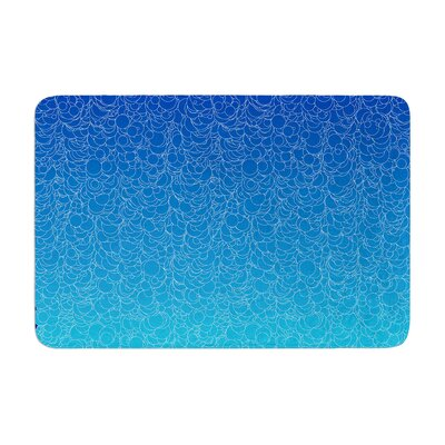 Bubbling by Frederic Levy-Hadida Bath Mat Color: Blue, Size: 17W x 24L