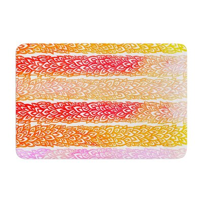 Leafs from Paradise by Pom Graphic Design Bath Mat Color: Red/Orange
