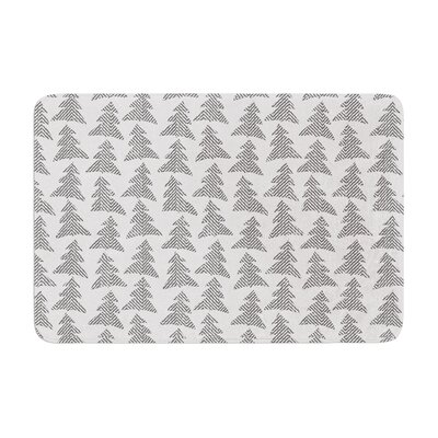 Herringbone Forest by Michelle Drew Bath Mat Color: Black