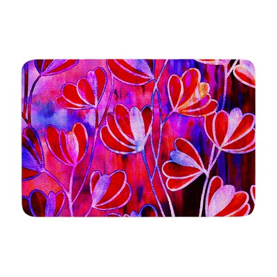 Effloresence by Ebi Emporium Bath Mat Color: Red/Pink, Size: 17W x 24L