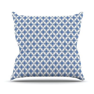 Bohemian Blues III by Carolyn Greifeld Throw Pillow Size: 26 H x 26 W x 5 D