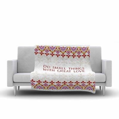 Moraira Love Fleece Throw Blanket Size: 60 L x 50 W