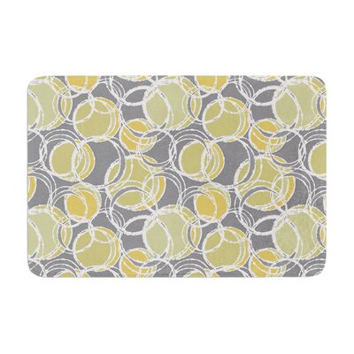 Simple Circles by Julia Grifol Bath Mat Color: Gray, Size: 17W x 24L