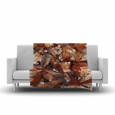 Birds of Prey Throw Blanket Size: 60 L x 50 W, Color: Rust/Tan/Brown
