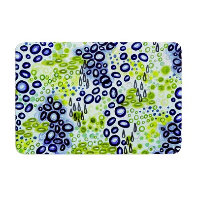 Circular Persuasian by Ebi Emporium Bath Mat Color: Blue/Green, Size: 24 W x 36 L