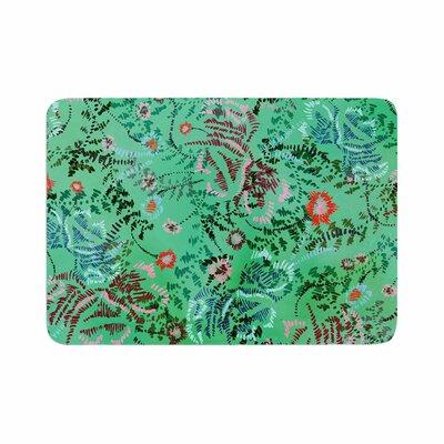 African Romance by Fernanda Sternieri Memory Foam Bath Mat Size: 36 L x 24 W, Color: Green