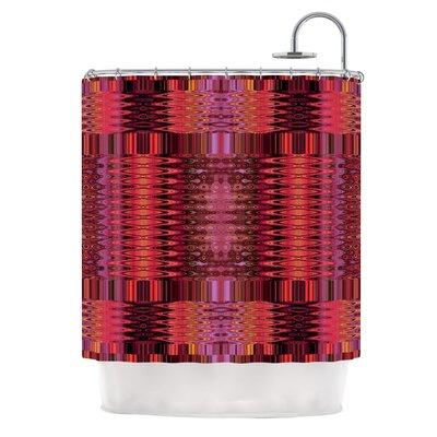 Larina Nueva Sky by Nina May Shower Curtain Color: Red