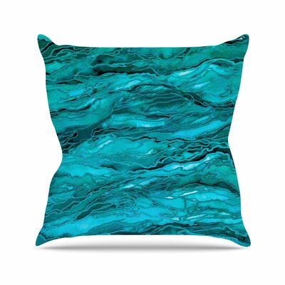 Marble Idea! Throw Pillow Size: 18 H x 18 W x 6 D, Color: Light Teal / Aqua
