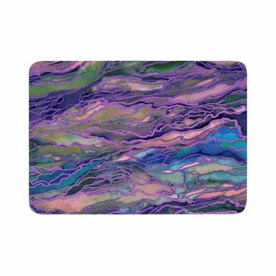 Marble Idea! by Ebi Emporium Memory Foam Bath Mat Size: 24 L x 17 W, Color: Lavender Pink