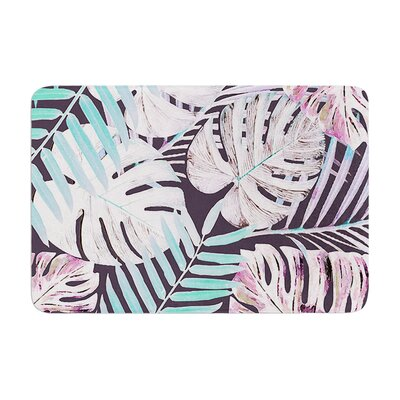 Jungle by Alison Coxon Memory Foam Bath Mat Color: Midnight