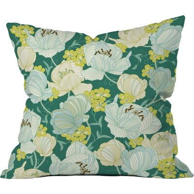 Flower Fields Polyester Throw Pillow Size: 18 H x 18 W x 5 D